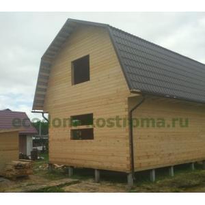 Дом из профилированного бруса 145х145мм Московская область г. Дубна июль 2020 года