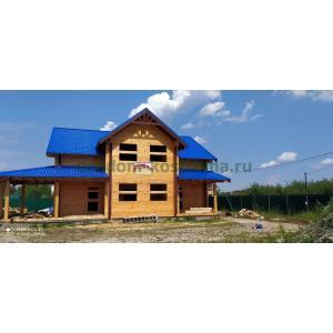Дом из профилированного бруса 200х200мм в Электрогорске Московской области июль 2020