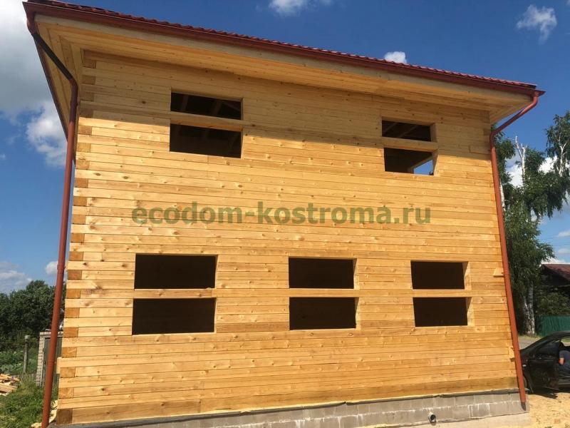 Дом из профилированного бруса в Ивановской области июль 2020