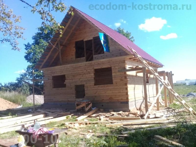 Дом из бруса под усадку в Иваново