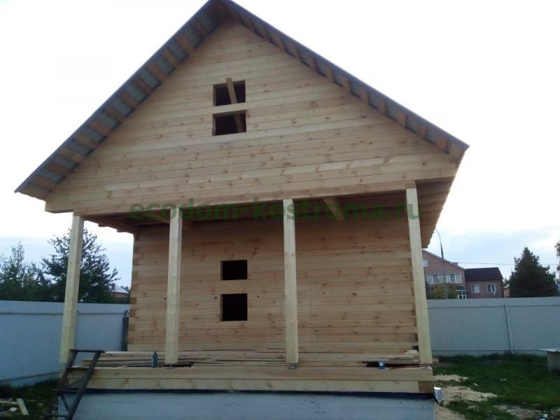 Дом из профилированного бруса камерной сушки в Ярославской области август 2019