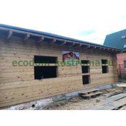 Дом из профилированного бруса в поселке Ватутинки август 2020