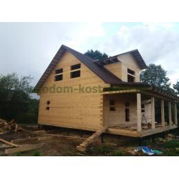 Дом из профилированного бруса 145х190мм Владимирская область август 2020