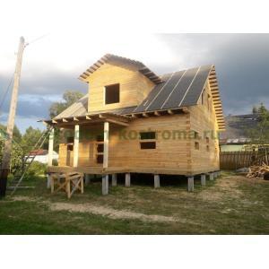 Дом из профилированного бруса в Московской области Одинцовский район август 2021