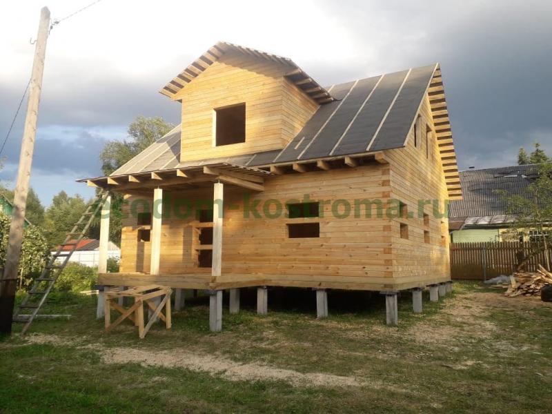 Дом из профилированного бруса в Московской области в Одинцовском районе