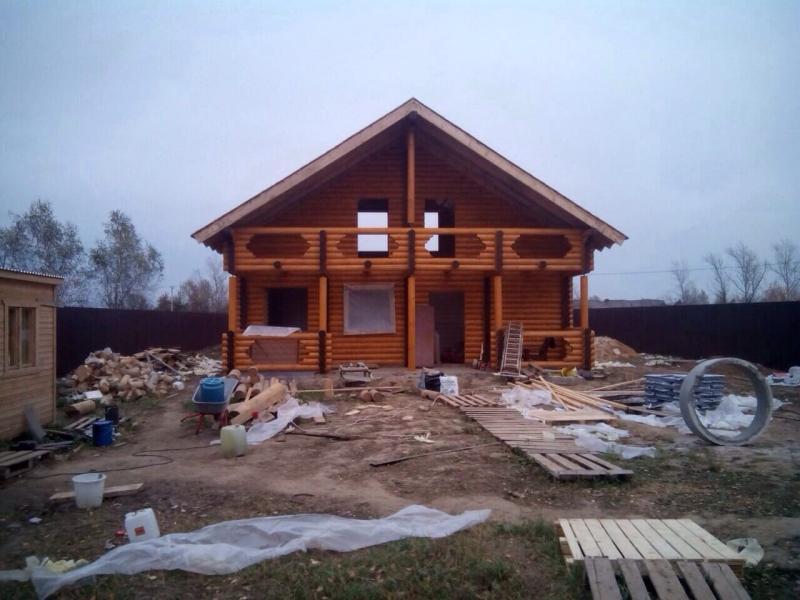 Дом из оцилиндрованного бревна Московская область, Раменский р-он, село Большое Алексеевское