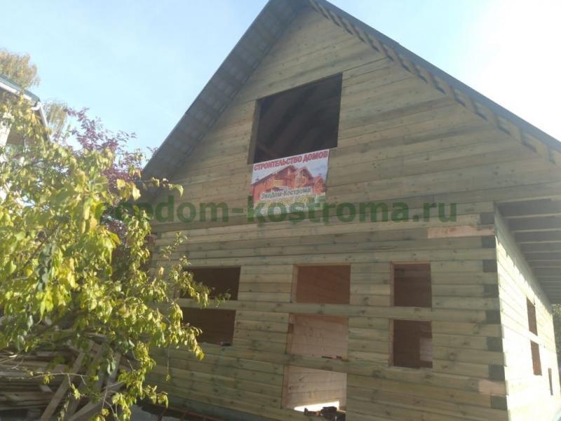 Дом из профилированного бруса в Московской области Мытищи сентябрь 2019