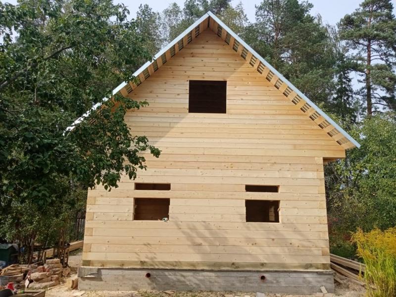 Дом из профилированного бруса 190х190мм. Ивановская обл д. Борисово построен в сентябре 2020 года