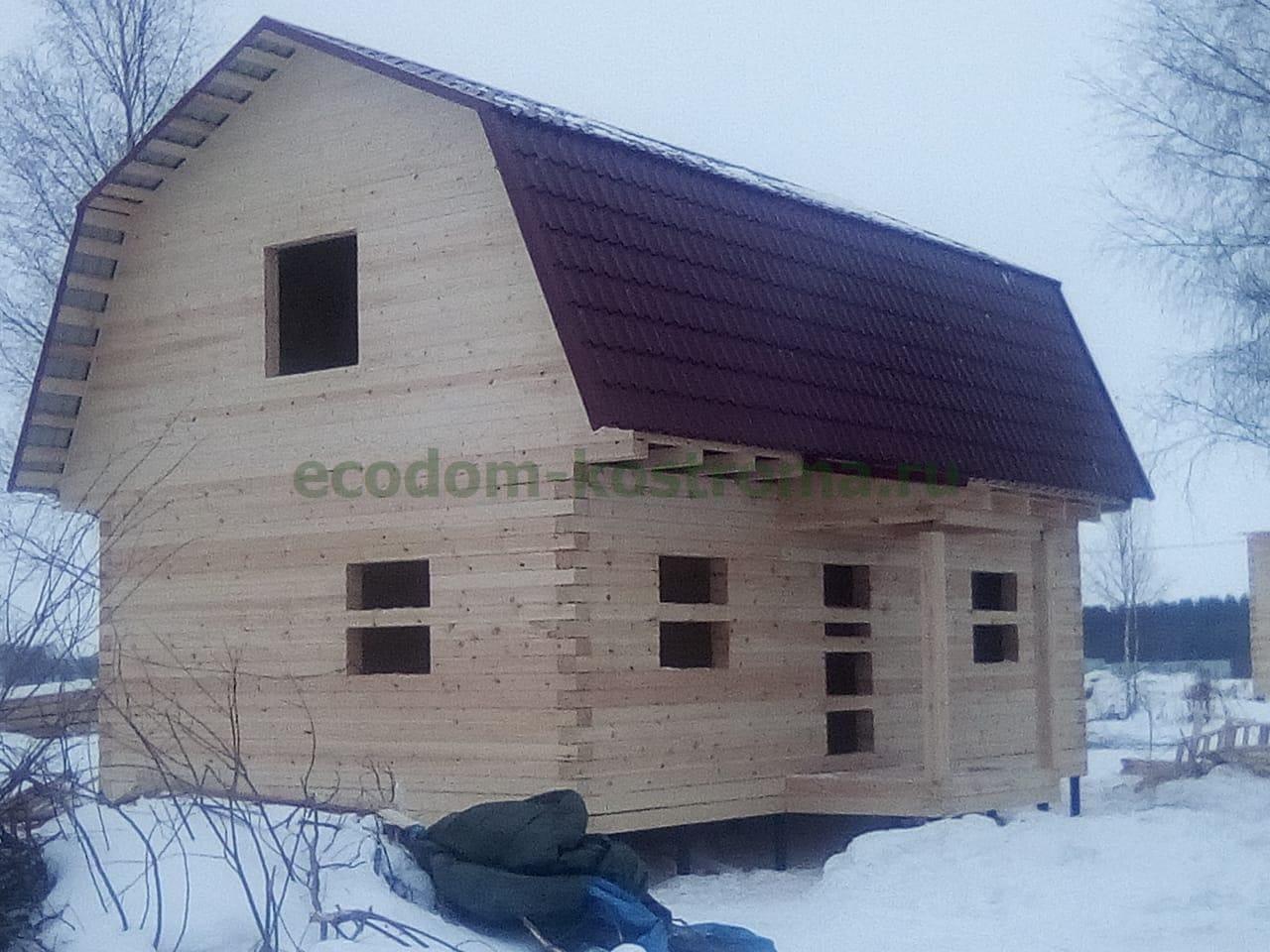 Дом из профилированного бруса 145х195мм камерной сушки в Нижегородской области
