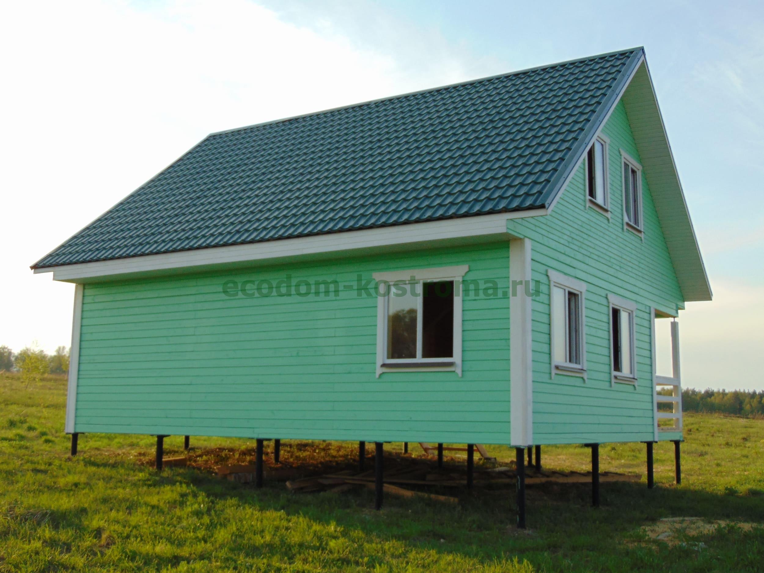 Дом из профилированного бруса под ключ в коттеджном поселке