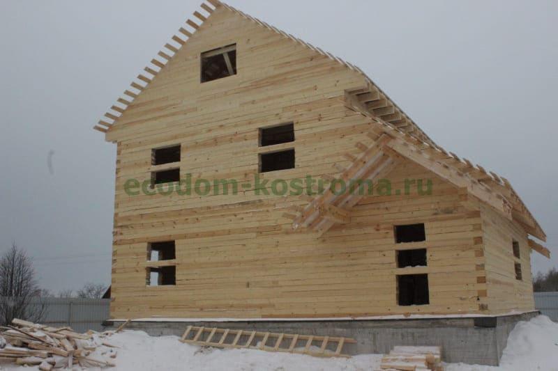 Дом из бруса под усадку в Волоколамском районе