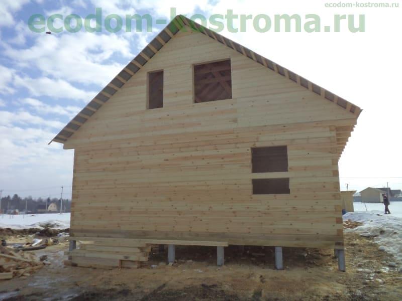 Дом из профилированного бруса в Сергиевом-Посаде в марте 2017 года
