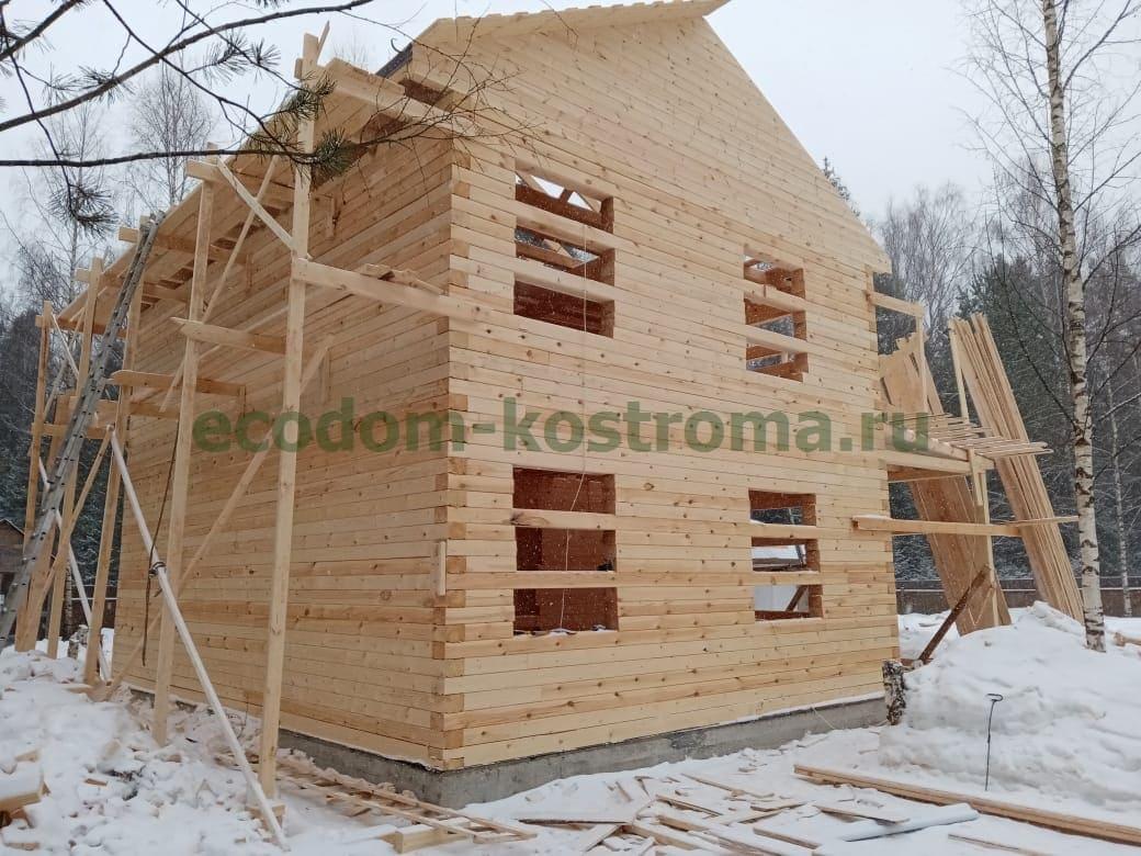 Дом из профилированного бруса 145х190мм в Щелковском районе Московской области