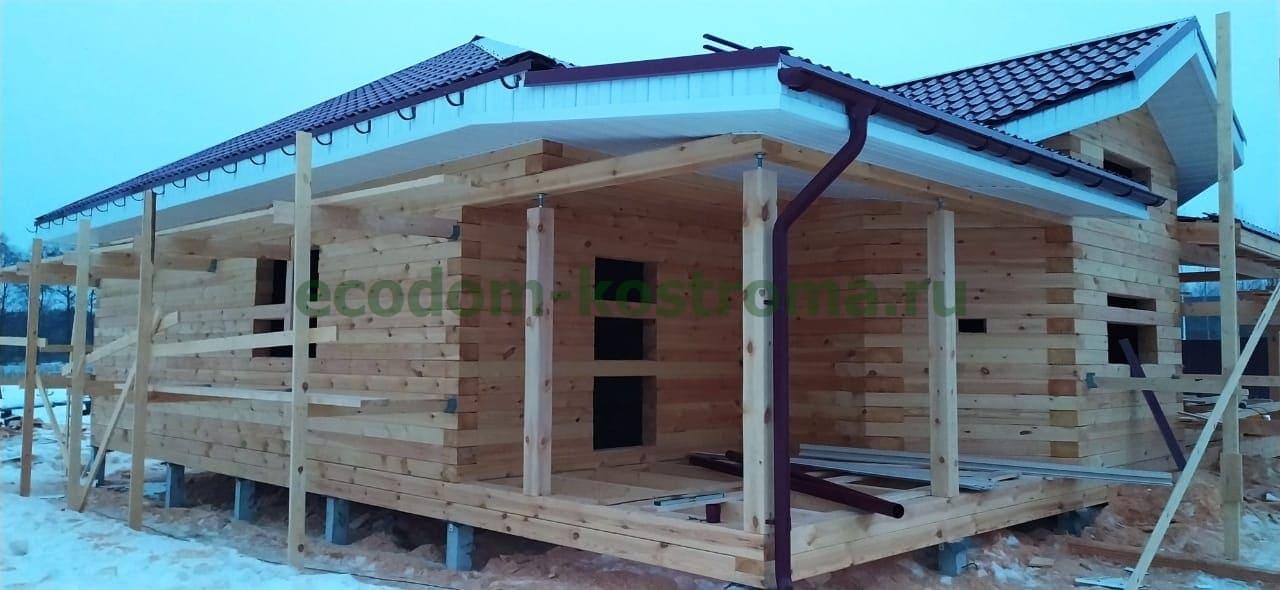Дом из профилированного бруса 145х190мм