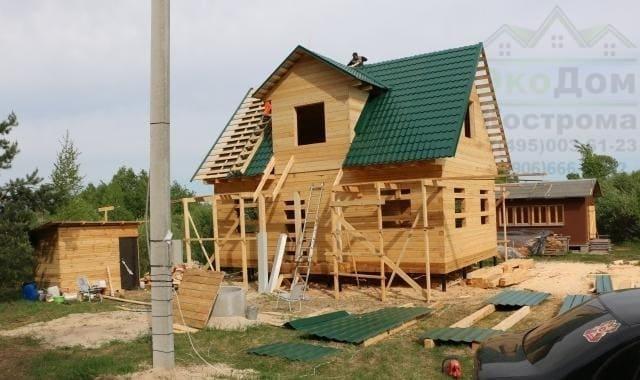 Дом из бруса Рязанская область в мае 2016 года