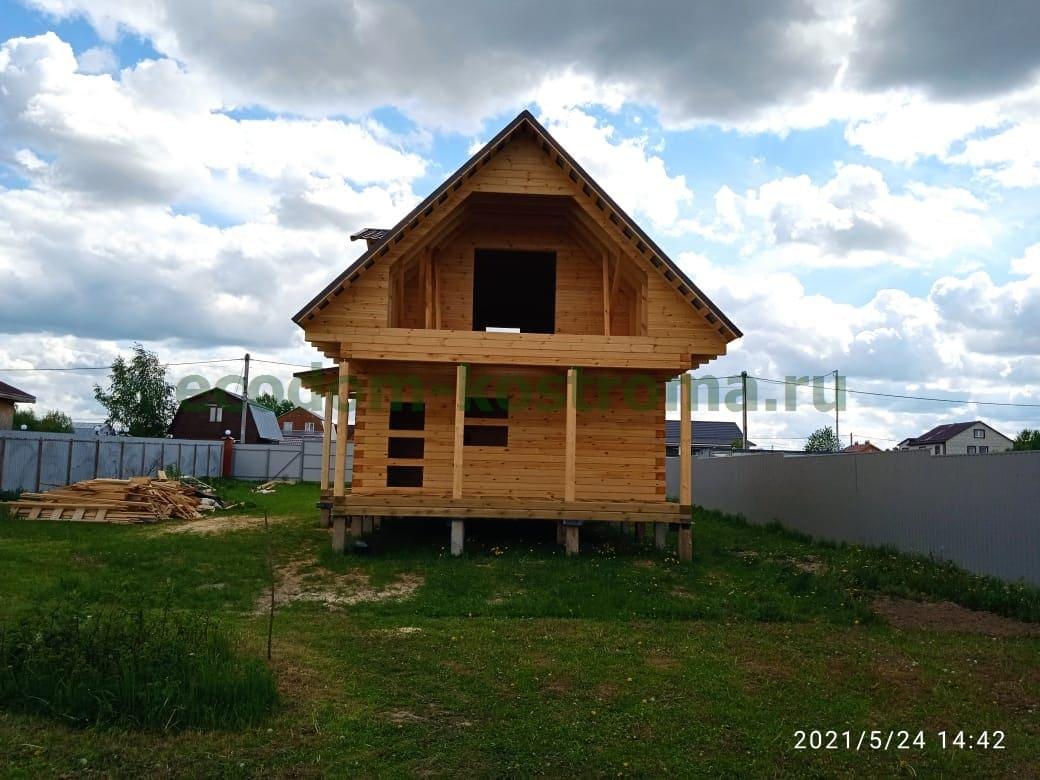 Дом из профилированного бруса в Раменском г.о. Московской области в мае 2021 года