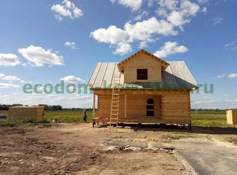 Дом из профилированного бруса в Рязанской области, построен в июне 2018 года