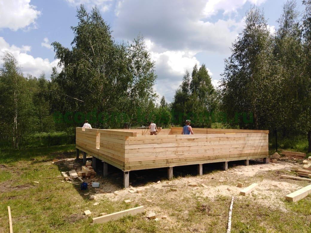 Дом из обрезного бруса 150х150 Серпуховский городской округ Московская область июнь 2020 года