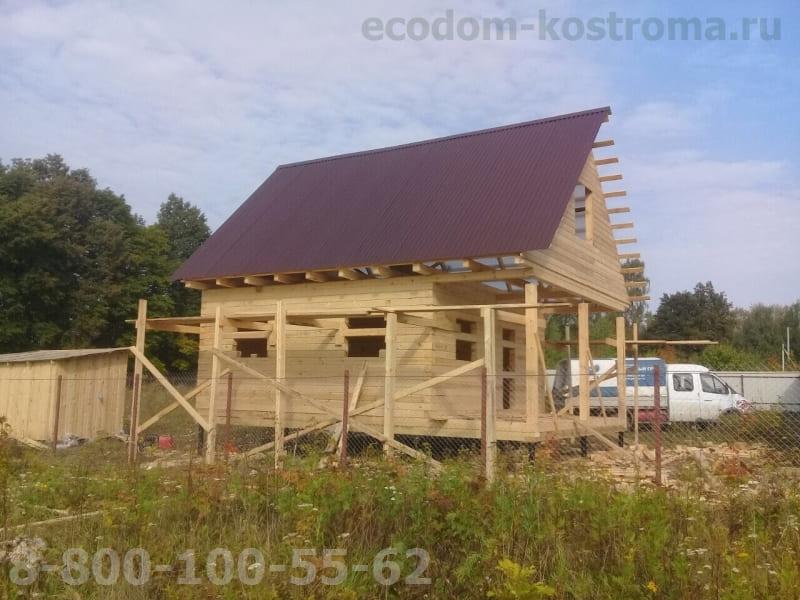 Дом из бруса под усадку Ожерелье Каширский район