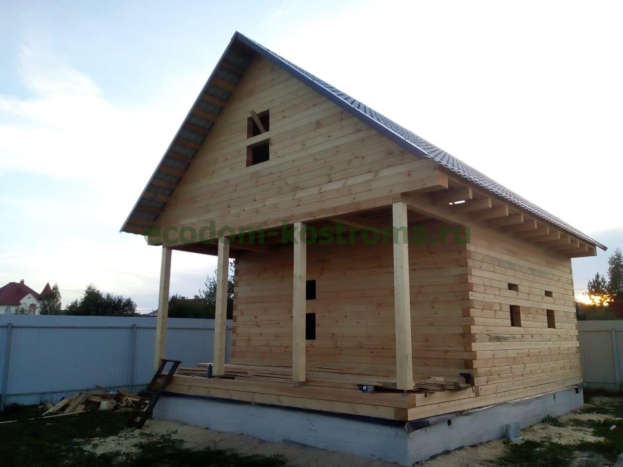 Дом из профилированного бруса камерной сушки в Ярославской области
