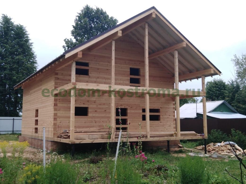 Дом из профилированного бруса под усадку в Ивановской области