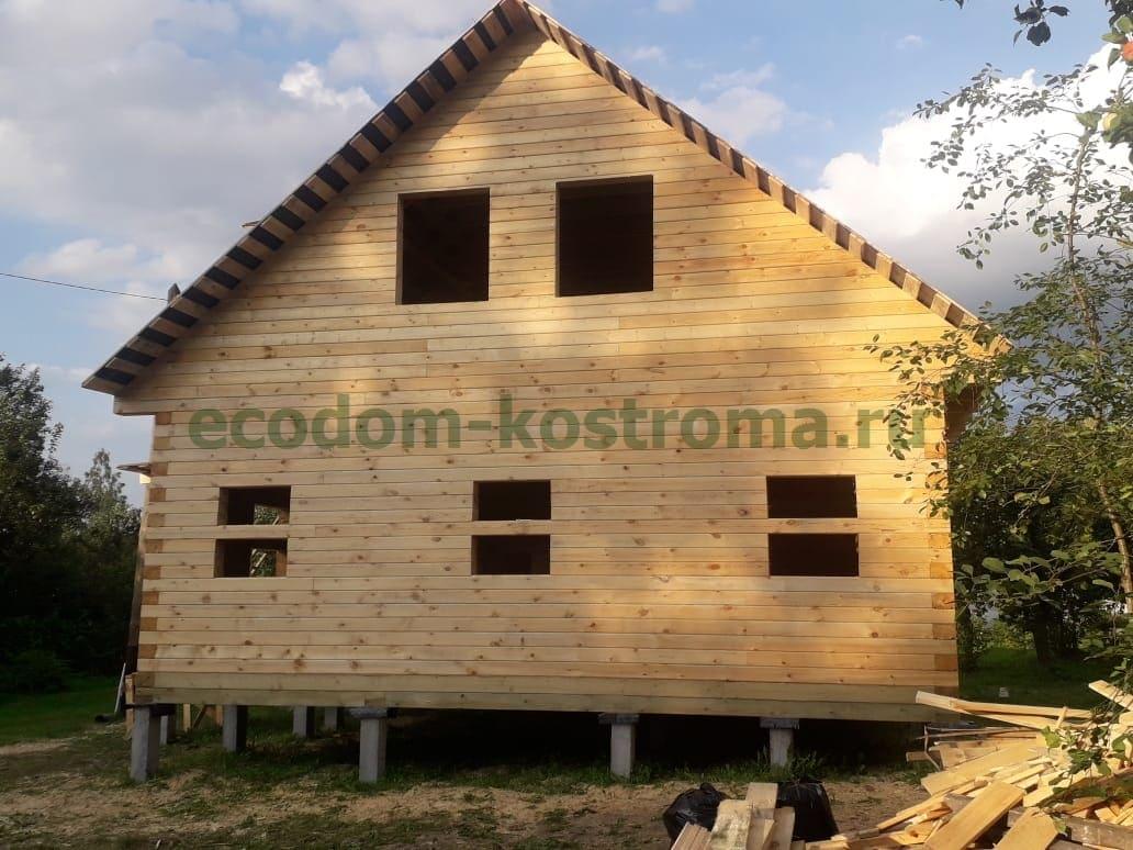 Дом из профилированного бруса в Московской области в Одинцовском районе в августе 2021 года